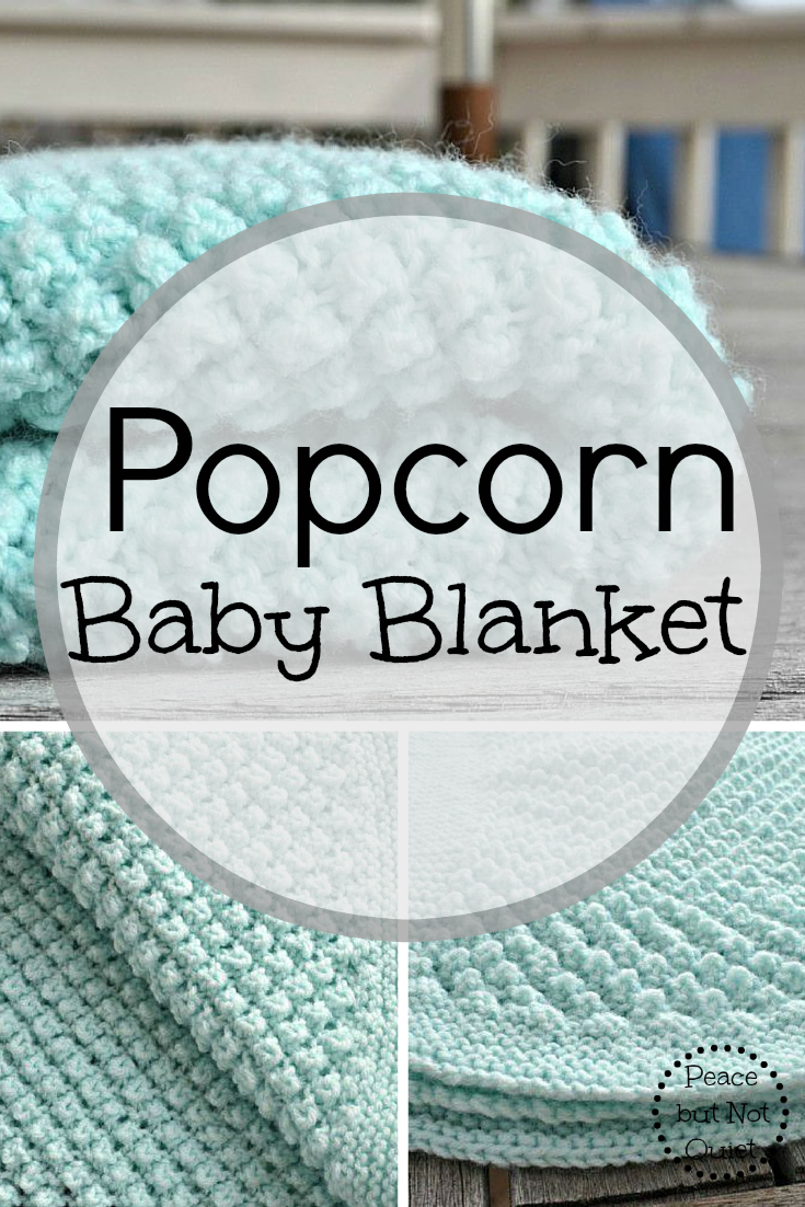An adorable popcorn baby blanket pattern | Easy knitting, Knitting ...