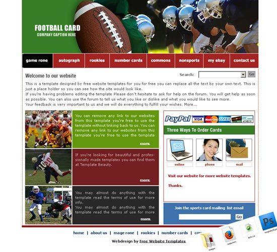 Soccer Website Template Soccer Website Templates Free Soccer Website - Soccer website templates