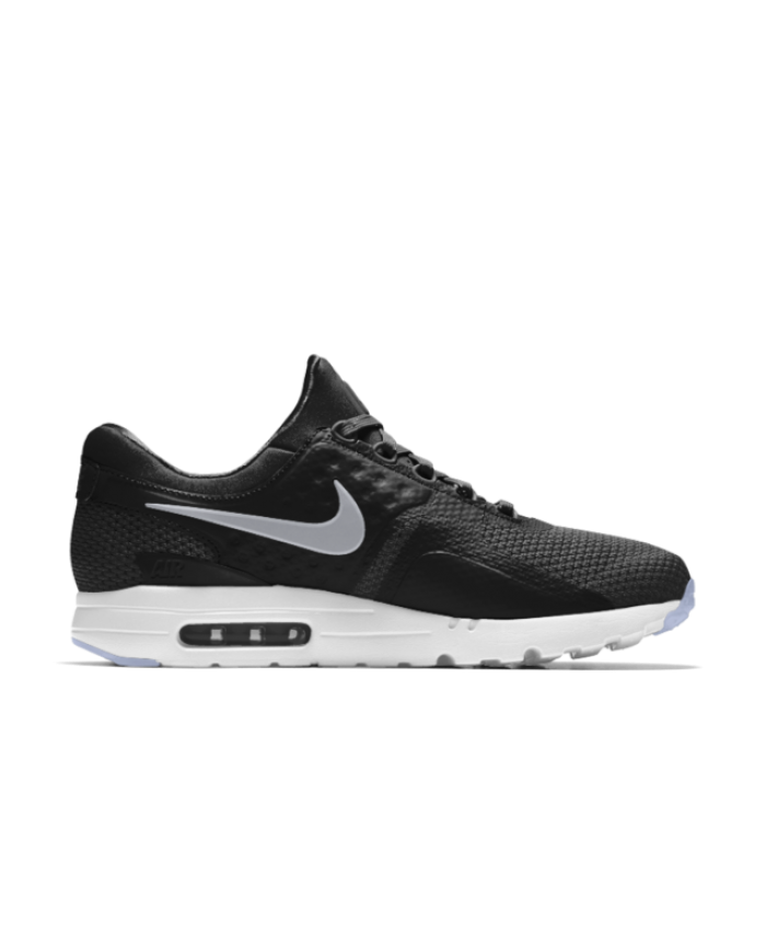 185409a9d9dc Nike Air Max Zero iD Black White Men s Shoes   Trainers Sale