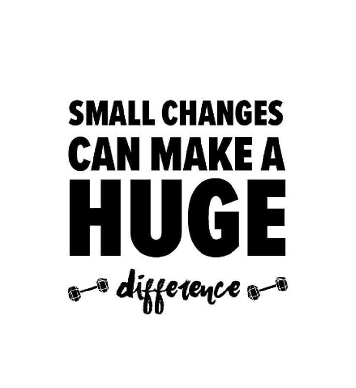 Healthy Quotes: Losing Weight: Small Changes, Big Results