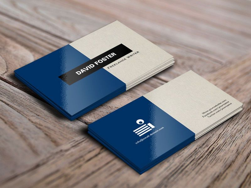 sample business card for freelance writer - Google Search - business card sample