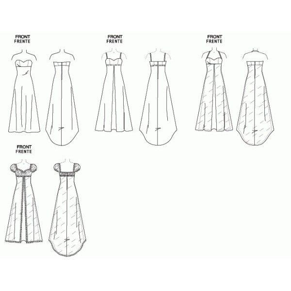 Patron couture robe soiree longue