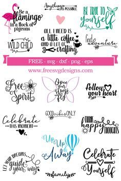 Free SVG Cut Files - FREE downloads for your cutti