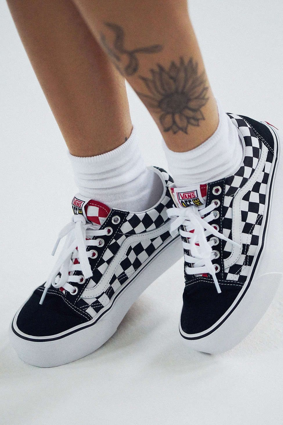 vans old skool plataform cuero