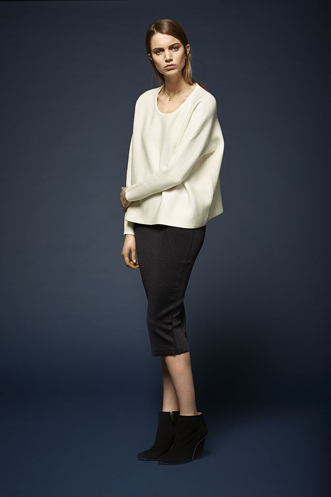 Milau knitted sweater and Sphinx skirt http://www.dante6.com