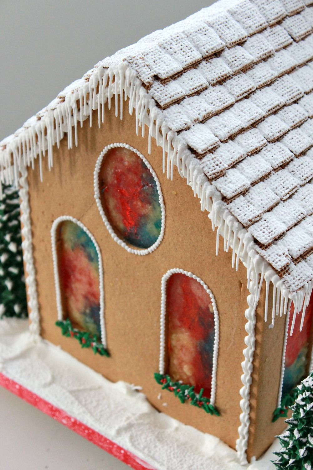 gingerbread house window template  Gingerbread Church | Gingerbread, Christmas gingerbread ...