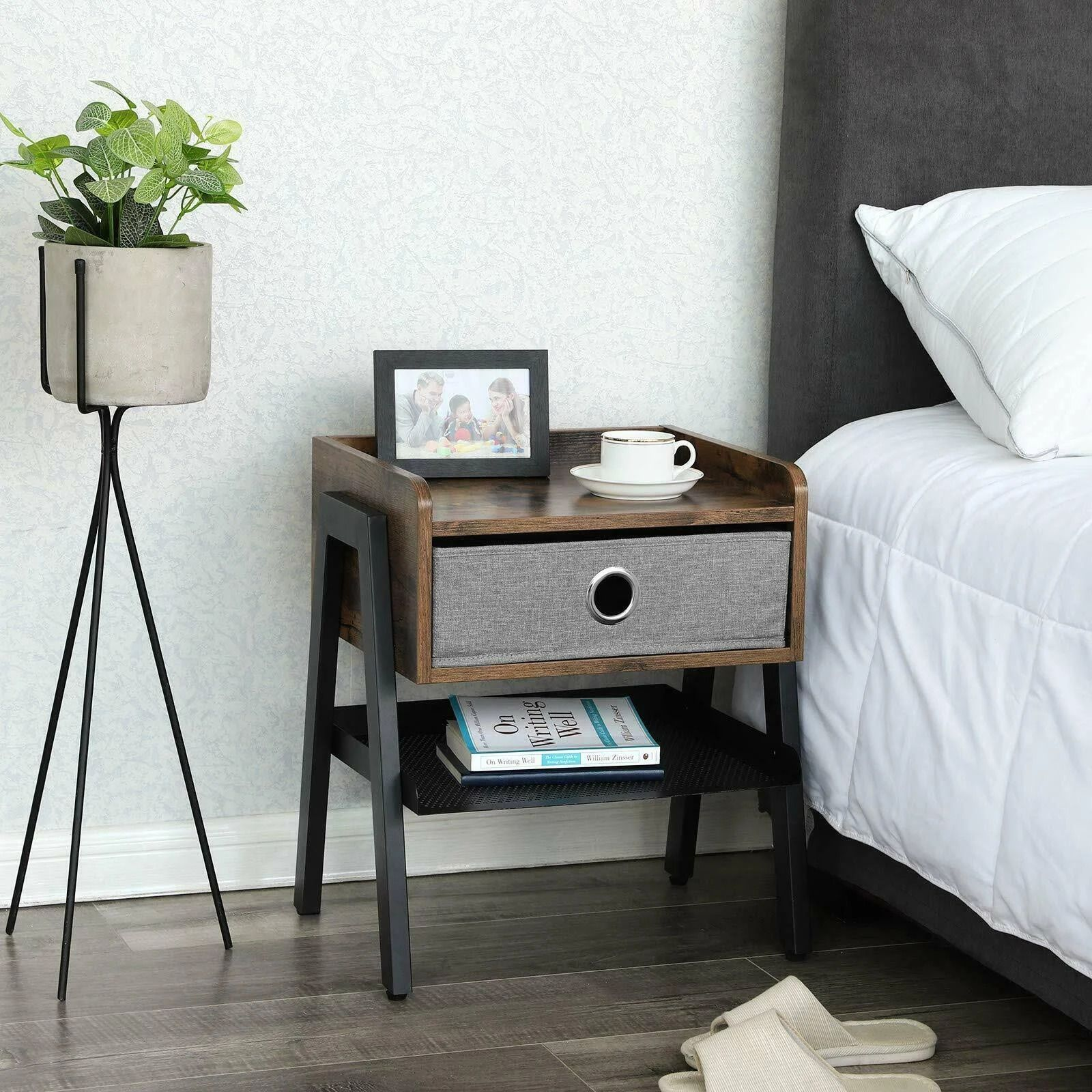 Stylish, rustic and spacious, what more can you ask from your nightstand.  Follow Us 👇 #benzara . . . #furniture #nightstand #Modernnightstand #woodentable #industrialdecor #industrialdesign #industrialhomedecor #neutraldecor #industrialinterior #styleithappy #simplystyleyourspace #homewithrue #decorcrushing #interior4you1 #modernfarmhouse #myroom #interiorboom #decordailydose #farmhousehappy #showmeyourstyled #myhomesense #dailydecordetail #bohointerior #oneroomchallenge #neutralhome #bohome