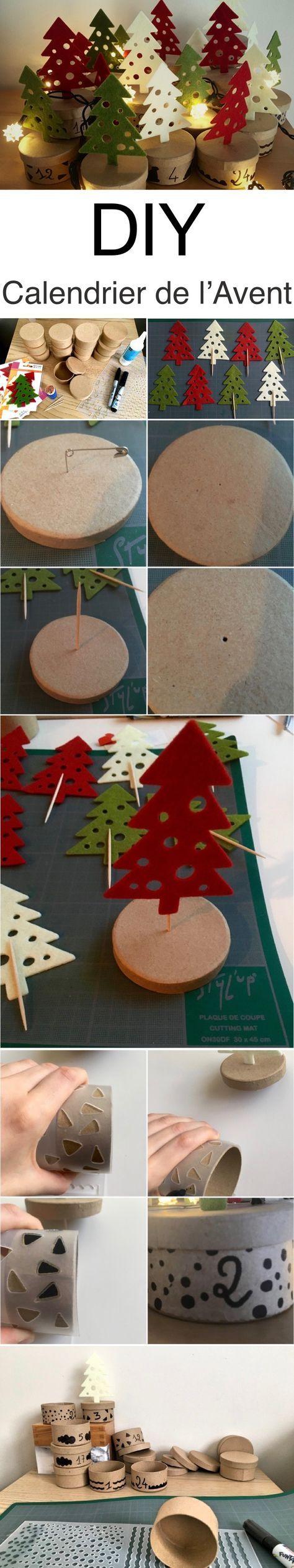 Tuto DIY calendrier de l'Avent forêt de sapins - Clem Around The Corner
