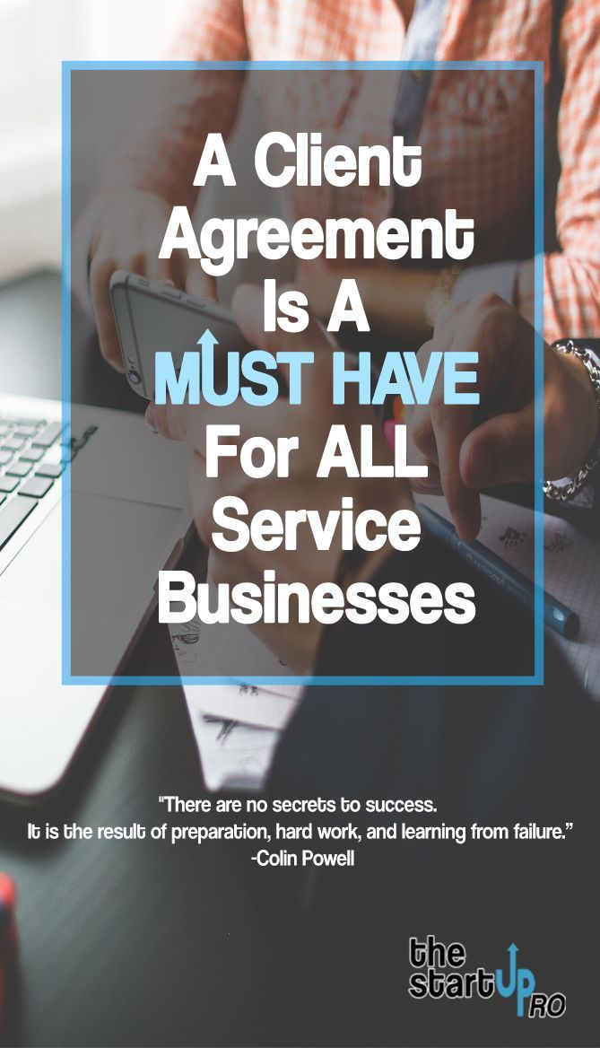 A Client Agreement is a MUST HAVE for Service Businesses Get your - sample business agreements