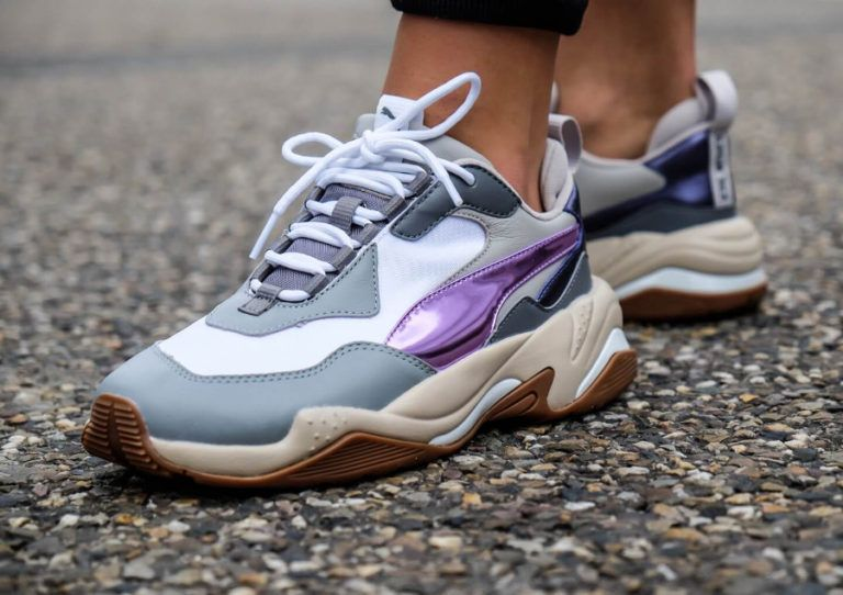 eed32180d640b2 Puma-Womens-Thunder-Electric-White-Pink-Lavender-Cement-on-feet-0367998-01  (3)
