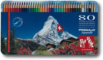 Caran D Ache Prismalo Watercolour Pencil 30 Colour Tin Arts