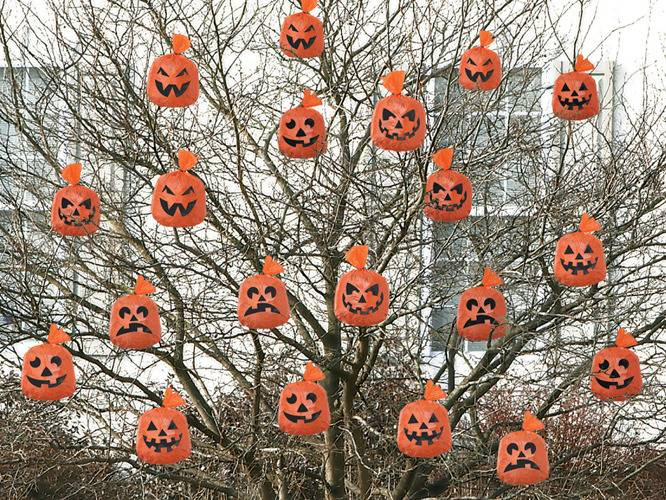 Wiszące Worki Worek na liście Dynia Halloween 20sz