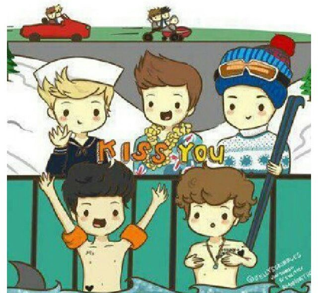 Omg The Video In Cartoon Version One Direction Bildschirmhintergrund Fangirl One Direction