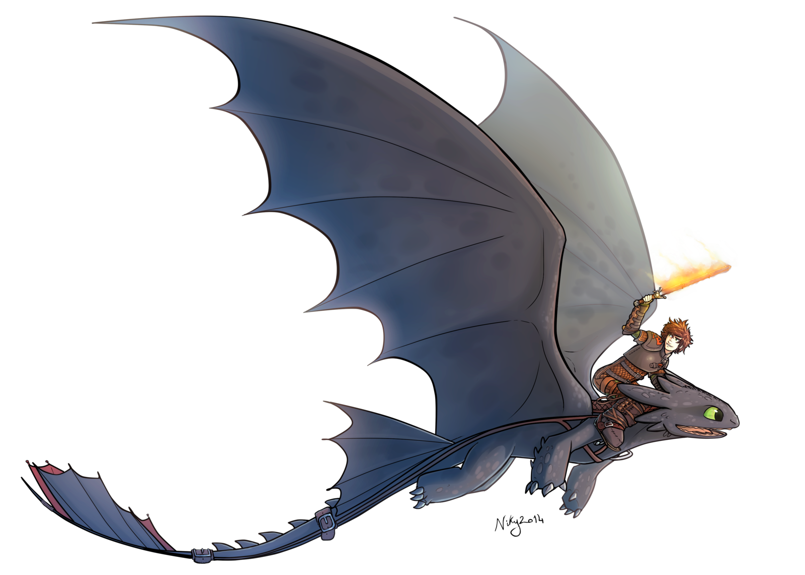 Httyd 2 Hiccup and Toothless by MatildaDavidson.deviantart ...