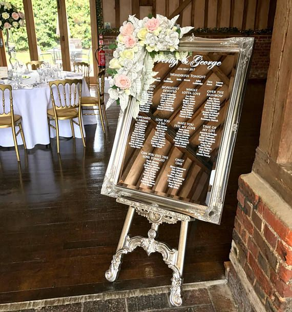 Acrylic Wedding Table Plan • A2, A1 Or A0 • Seating Chart
