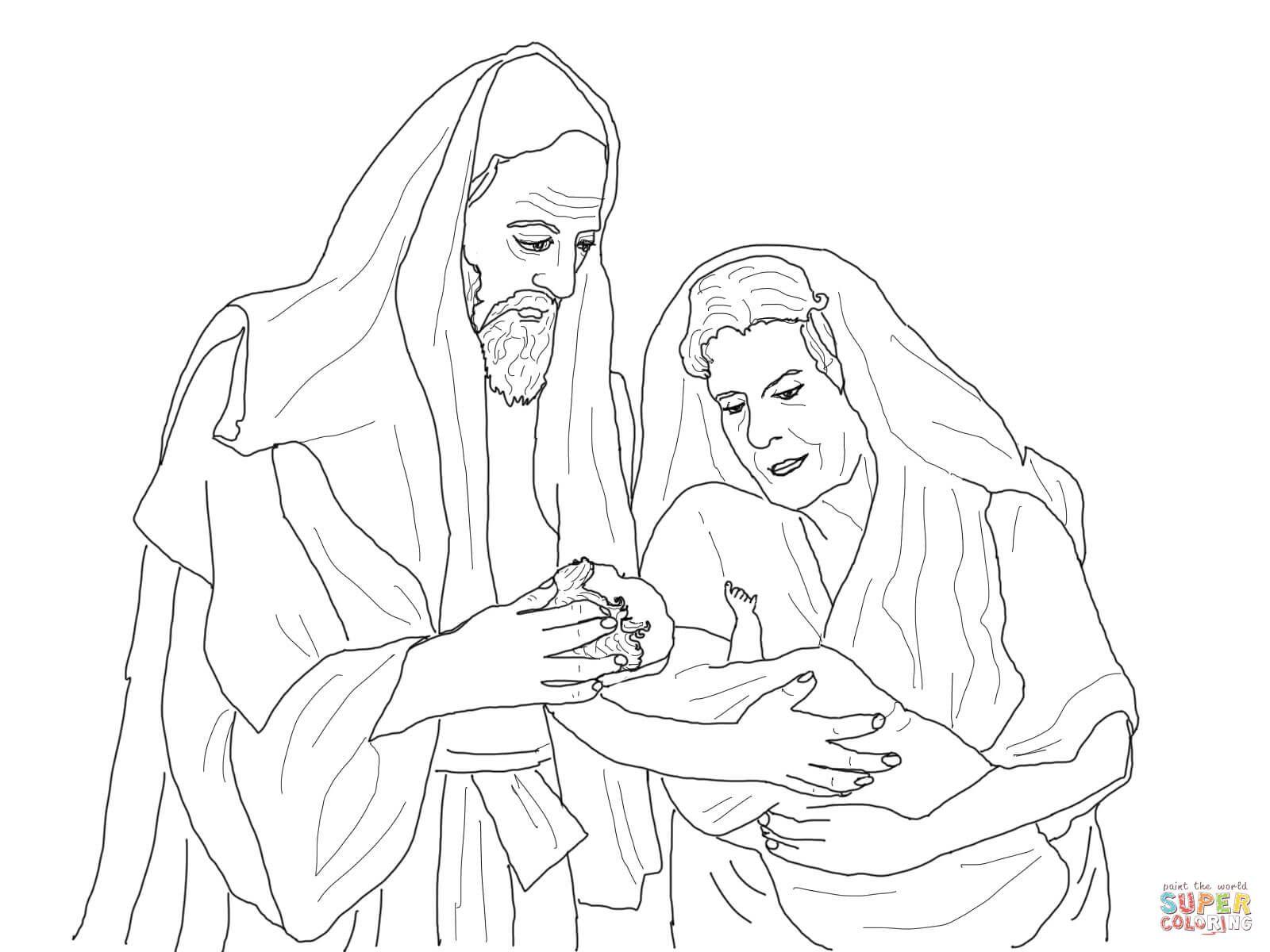 Abraham Sarah And Their Newborn Son Isaac Abraham And Sarah Bible Coloring Bible Coloring Pages