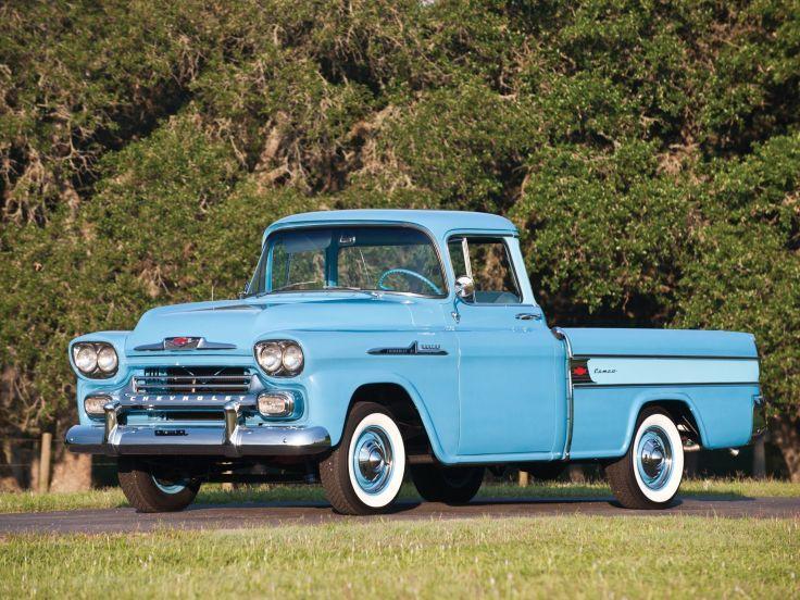 1958 Chevrolet Apache 3 1 Cameo Fleetside Pickup 3a 3124 Retro Wallpaper 2048x1536 484266 Wallp Classic Chevy Trucks Old Pickup Trucks Chevrolet Trucks