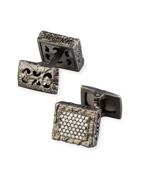 Marco Dal Maso GlamAzone Triangle Cufflinks in 18K Black Gold 7nxowR2b