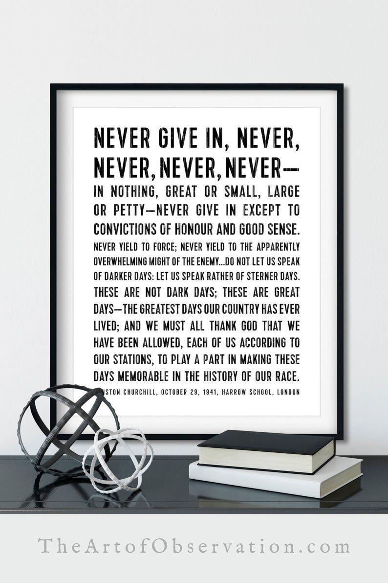 Photo Poster Gift Winston Churchill Art Print /'Hope/'