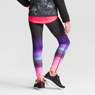 728a8a9c7189 Girls  Printed Performance Leggings - C9 Champion Ombre Galaxy Print ...