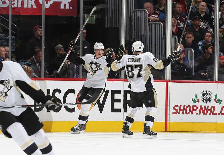 scores twice, Penguins rally past Avalanche