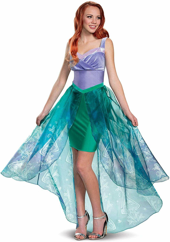 Disney Mermaid Ariel Paillettes Costume Kids Fancy Dress