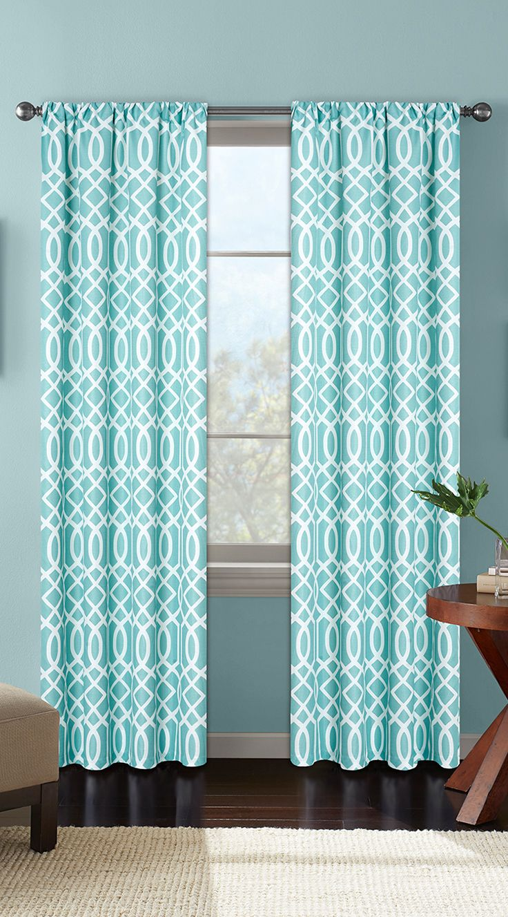 Better Homes And Gardens Ironwork Printed Window Curtain Windows