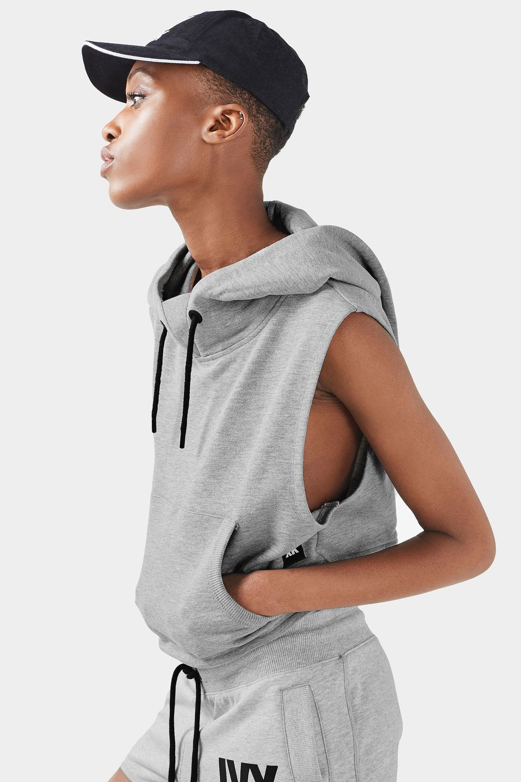Sleeveless Cropped Hoodie by Ivy Park