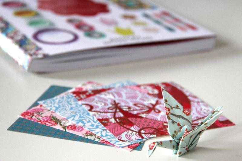 """Ein sehr schöner Kranich, gefaltet nach der Anleitung aus """"Japan Papierwerkstatt"""" von der Edition Michael Fischer Bild gefunden auf: http://www.rapantinchen.de/buchvorstellung-japan-papierwerkstatt/"""