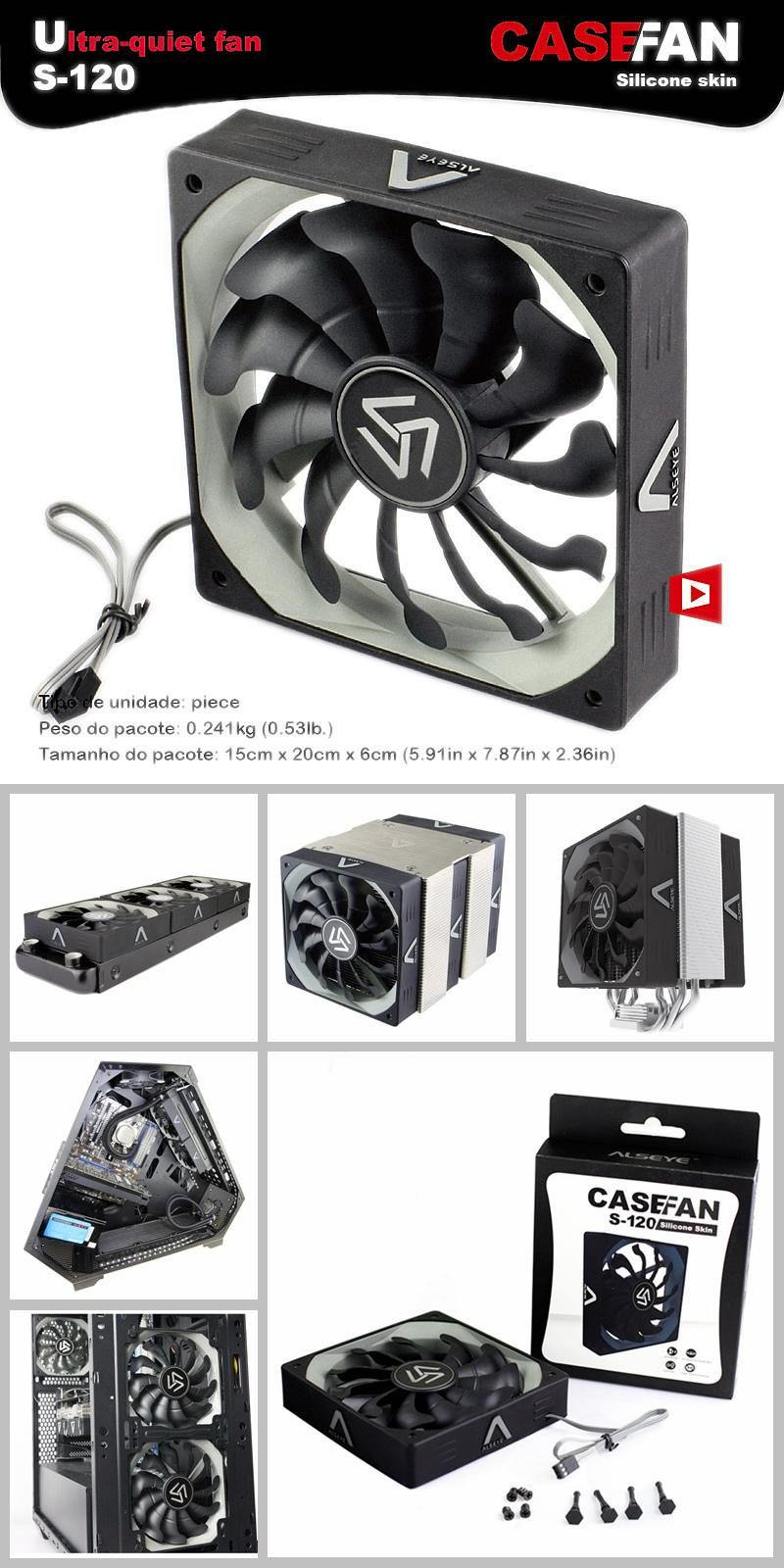 Cheaper computer -  Visit To Buy Alseye 120mm Computer Fan Cooler 3 Pin 12v 1200rpm 10 Pieces