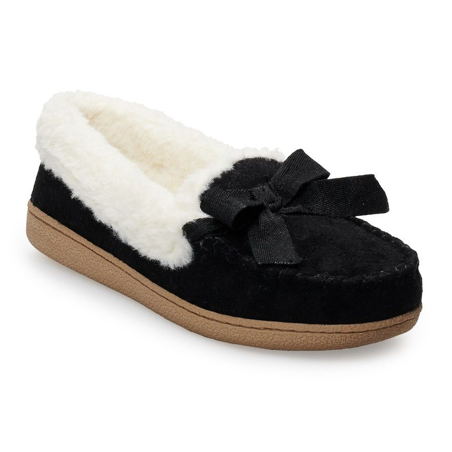 Basic Microsuede Moccasin Slippers