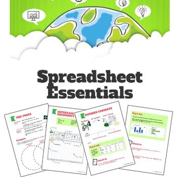 Spreadsheet Essentials - Excel and Google Sheets Activity Packet - spreadsheet formulas