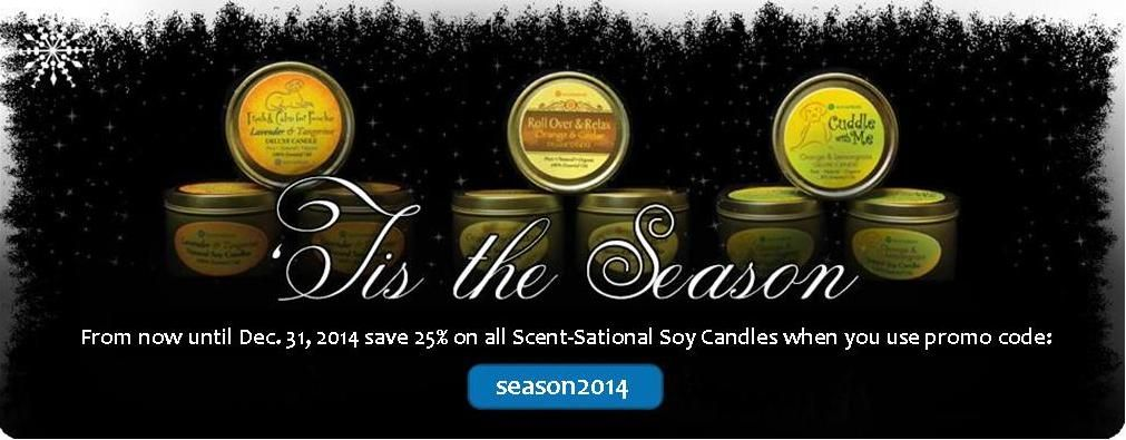 Enjoy luxurious scents this holiday season. #Save25% on our Scent-Sational #SoyCandles at www.austinrose.com