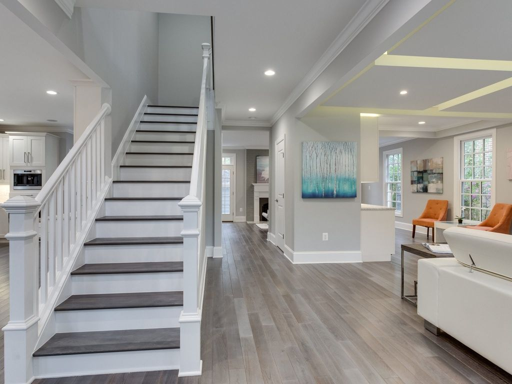 Lighting Basement Washroom Stairs: Floating Staircase Yet Open And Can