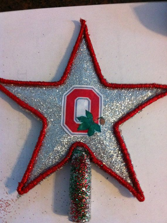 Ohio State Buckeyes Christmas Tree Topper by Jewlsbasement on Etsy ...