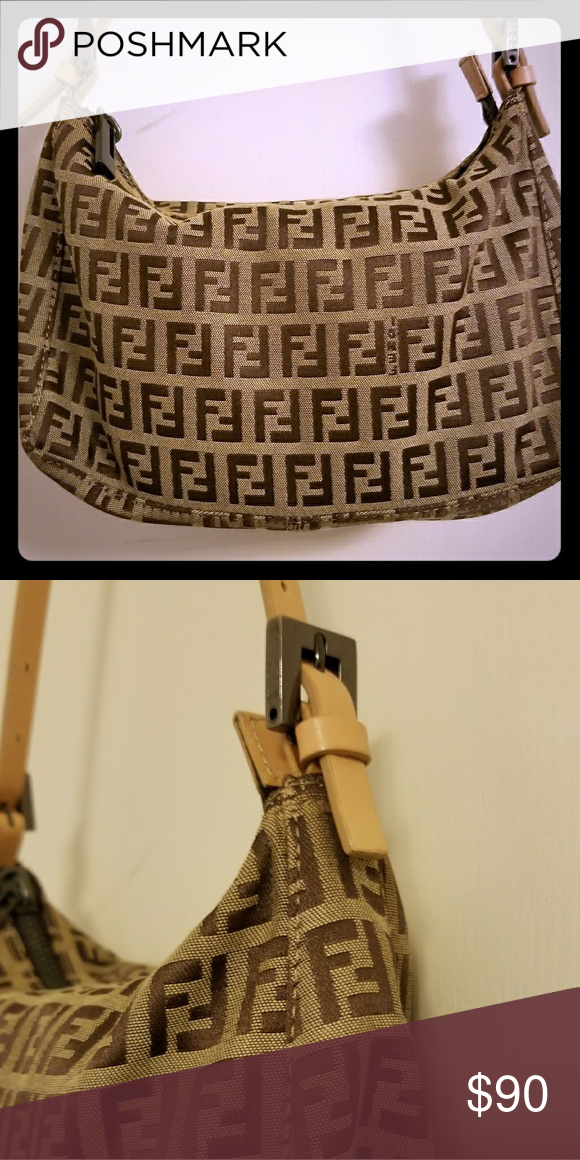 e0181f27e2e FENDI VINTAGE Zucchino handbag Great condition, hardly used. Authentic vintage  Fendi shoulder bag, no exterior damage. Zipper works fine; adjustable  straps.