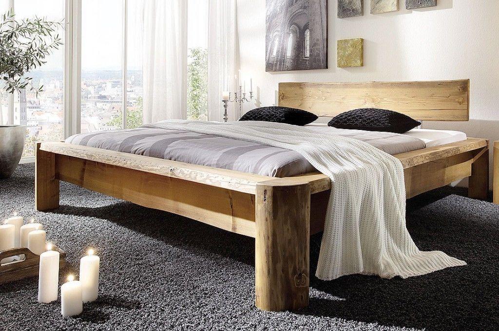 Massivholz Balkenbett Unikat 180x200 Holz Bett Gestell Rustikal Antik Doppelbett Ebay Massivholzbett Bettgestell Wohnzimmer Design