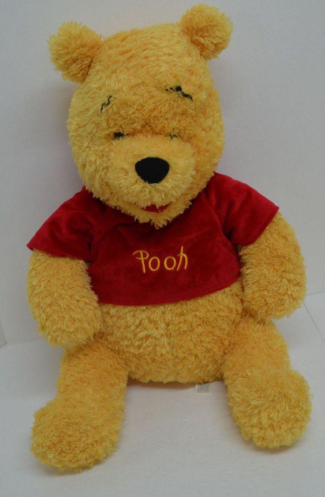 82cdcbafde62 Walt Disney World Winnie Pooh Plush Red Velvet Shirt Large Stuffed Animal  24