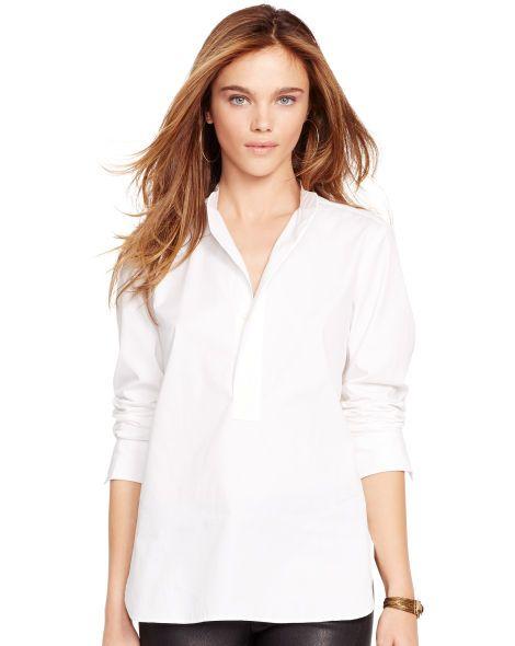 Cotton Poplin Shirt - Polo Ralph Lauren Long-Sleeve - RalphLauren.com
