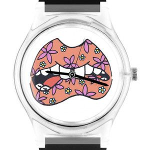 Armbanduhr Floral Lips