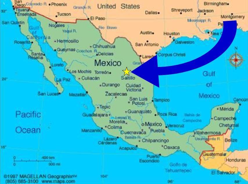 Saltillo Coahuila Mexico Map ditemsa mexico blvd luis echeverria
