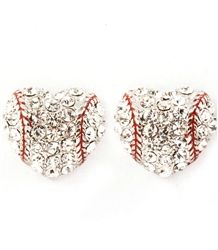 Baseball Heart Studs  $7.50 good gift