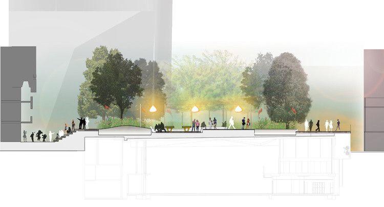 Park Cross Section Landscape Architecture Drawing Cool Landscapes Landscape Plan