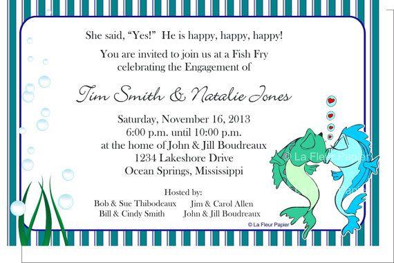 Diy Printable Shower Invitations Fish Fry Theme By
