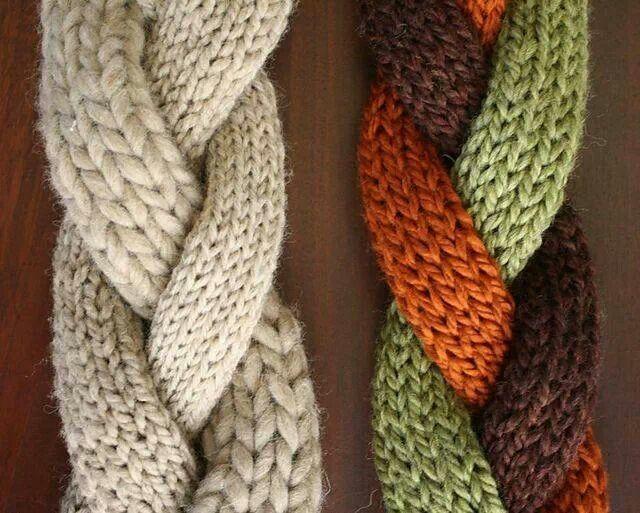 Trenzas | Bufandas (scarf) | Pinterest | Trenza, Tejido y Telar