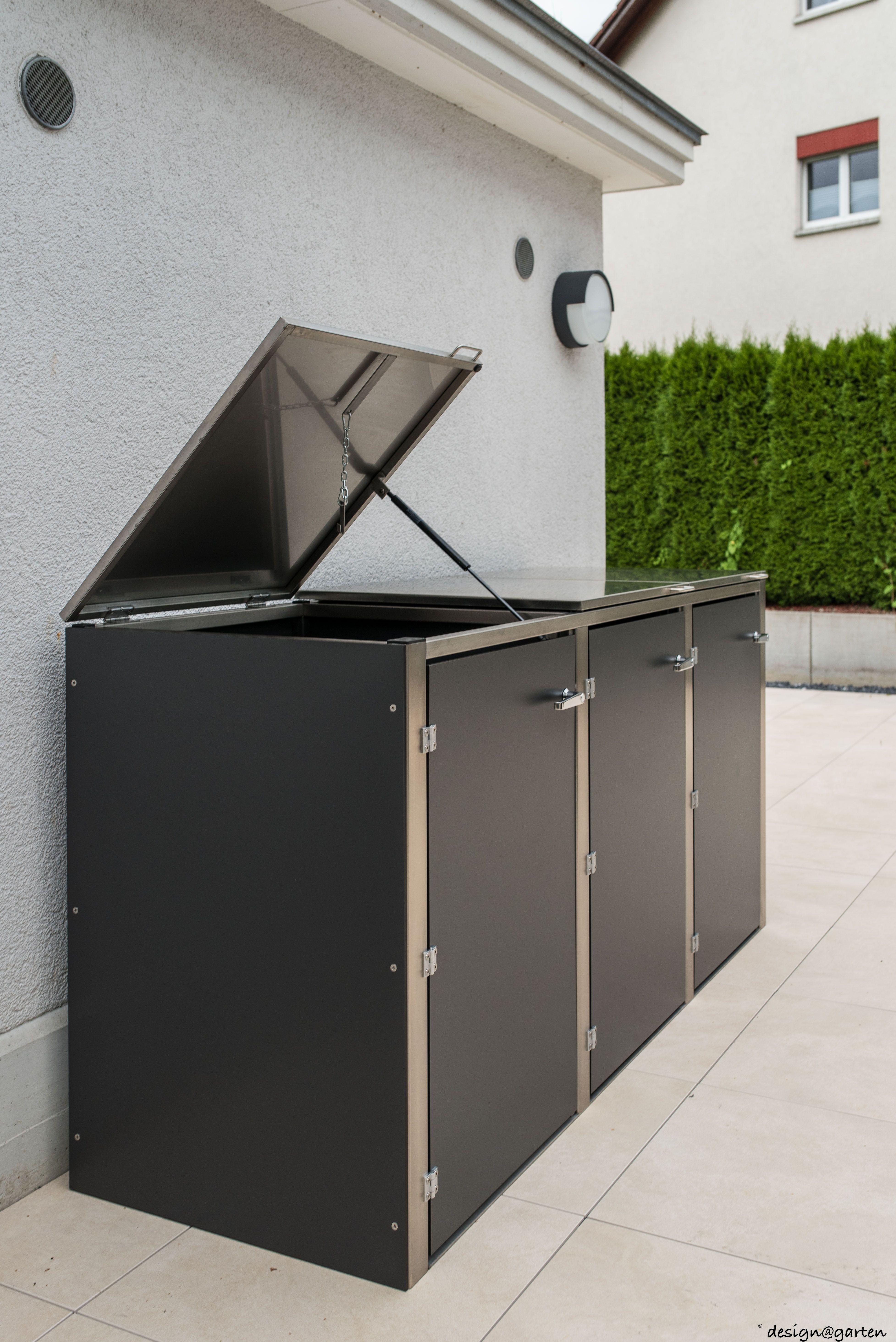 mülltonnenbox (@)boxx by design@garten, augsburg-germany. projekt in