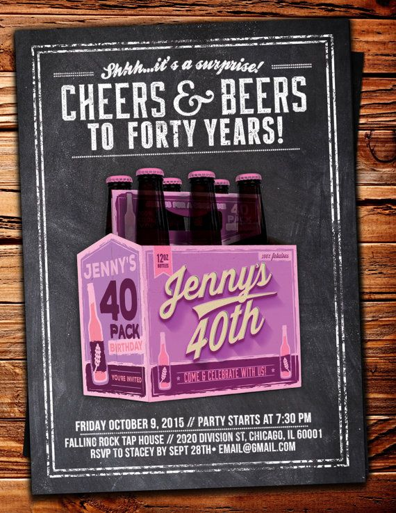 ANY AGE Cheers and Beers invitation beer 21st 30th por
