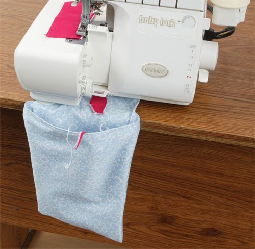 Stitch a serger thread catcher using this free tutorial and pattern!