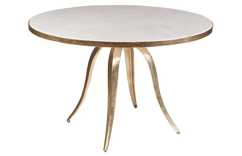 Crystal Stone Dining Table White Gold Artistica In 2019