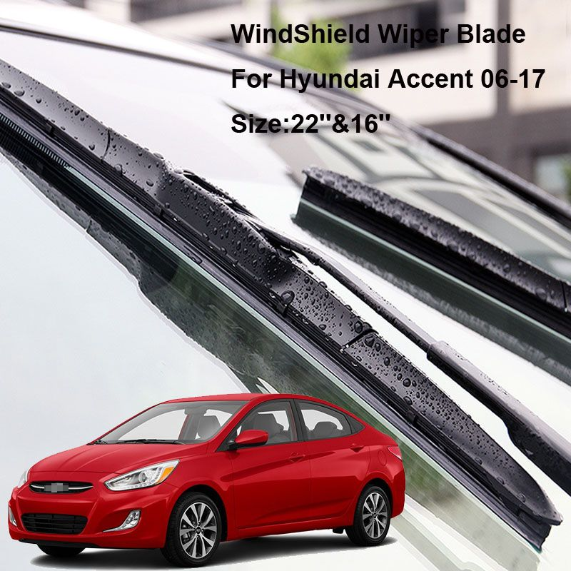 2pcs Front Soft Rubber Windscreen Windshield Wiper Blades For Hyundai Accent 2006 2017 Affiliate Windshield Wipers Subaru Legacy Nissan Tiida